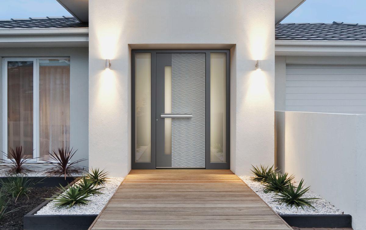 Alumínium bejárati ajtó modern otthonokhoz