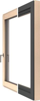 Ablak - fa-alu Katzbeck Design külső és belső nézet