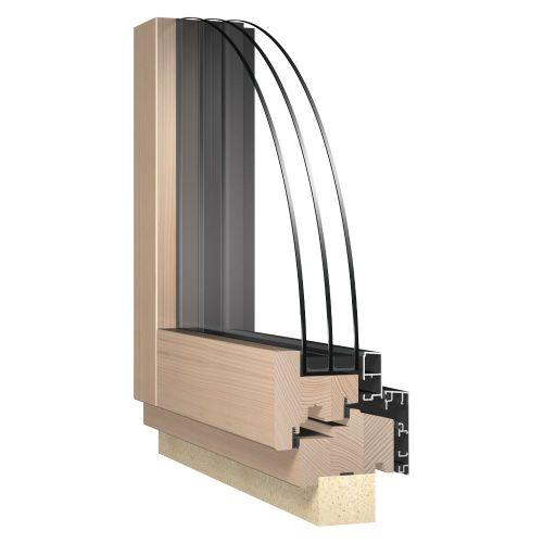 Ablak - Fa-alu, Katzbeck Design belső nézet