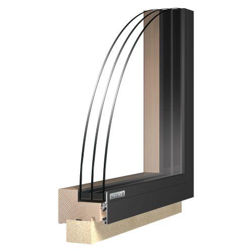 Fix fa-alu ablak - Katzbeck Fix flat külső nézet