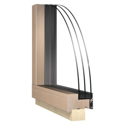 Fix fa-alu ablak - Katzbeck Fix flat belső nézet