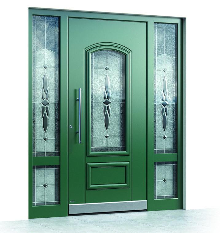 Klasszikus stílusú alumínium bejárati ajtó - Pirnar