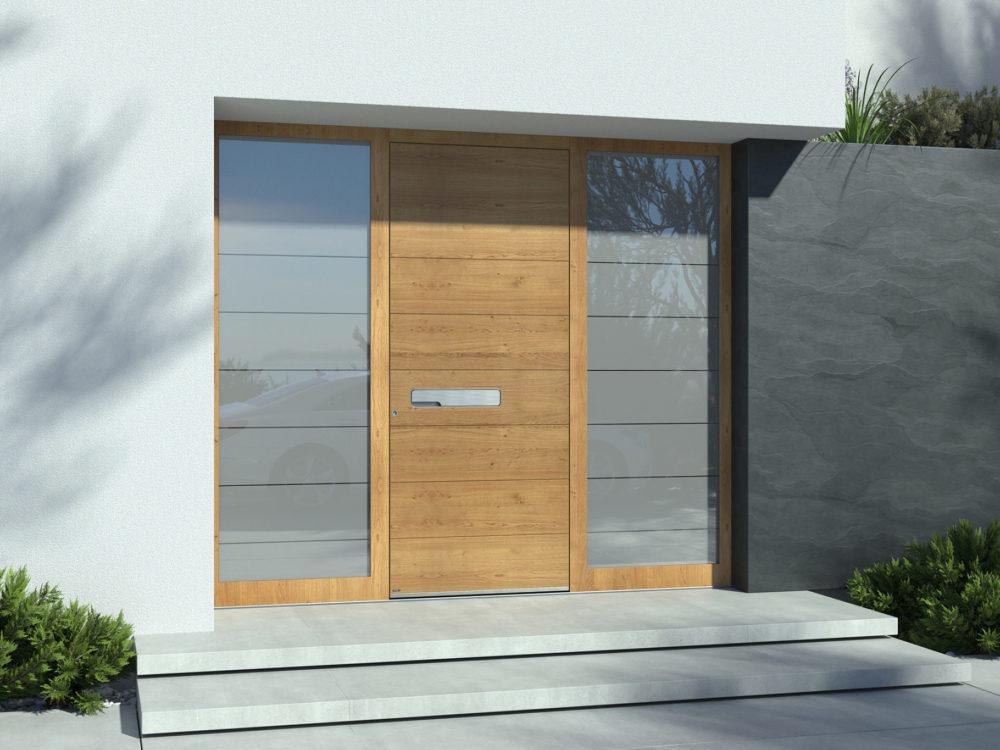 Modern fa alumínium bejárati ajtó luxus kivitelben - Pirnar Pure