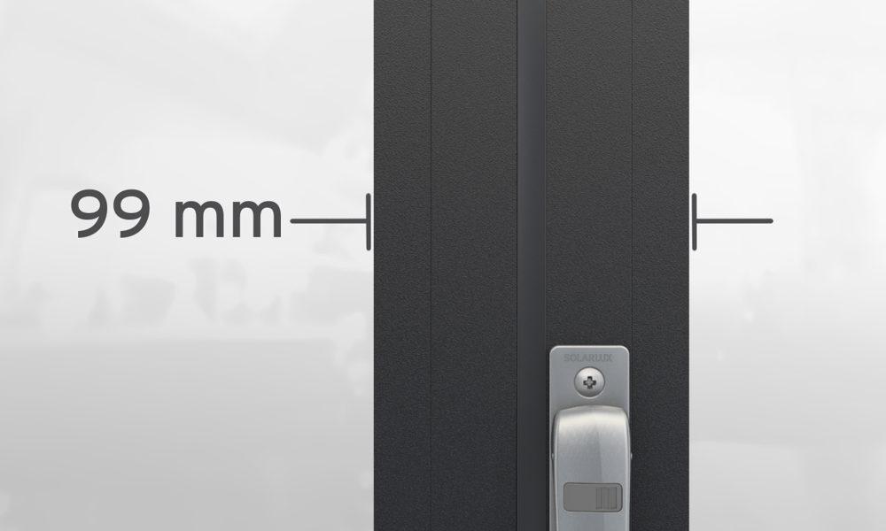 Harmonika ajtó keretszélesség - Solarlux